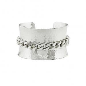 Bracciale Unoaerre in bronzo Silver rigido a schiava  - gallery