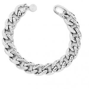 Bracciale Unoaerre in ottone silver catena groumette spessa - gallery