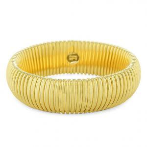 Bracciale Unoaerre rigido maglia tubogas giallo oro - gallery