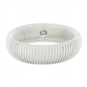 Bracciale Unoaerre rigido maglia tubogas silver argento - gallery