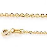 Catena da Donna a maglia diamantata 42 cm in oro giallo - gallery