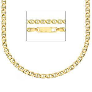 Catena da uomo in oro giallo 18 kt maglia traversino - 50 cm - gallery