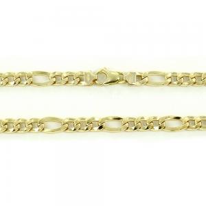 Catena girocollo da uomo in oro giallo groumette 50 cm - gallery