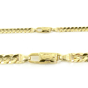 Catena in Oro giallo 18kt maglia groumette 50cm - gallery