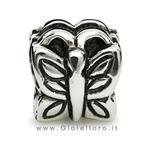 Charm componibile PerlAmore Silver Beads in argento Farfalla - gallery