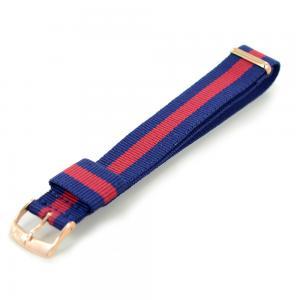 Cinturino NATO STRAPS blu e rosso chiusura rosa ansa 20 mm - gallery