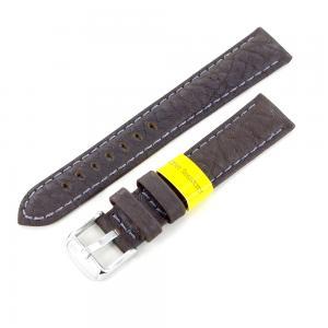 Cinturino ricambio Cuoio Texas marrone waterresistant ansa 18 mm - gallery