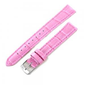 Cinturino ricambio orologio da donna rosa vera pelle Coccodrillo 16 mm  - gallery