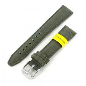Cinturino stampa Alligatore verde militare ansa 20 mm - gallery