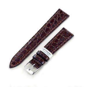 Cinturino stampa Coccodrillo marrone ansa 20 mm - gallery