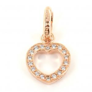 Ciondolo cuore in argento rose e Zirconi AmoreeBaci - gallery