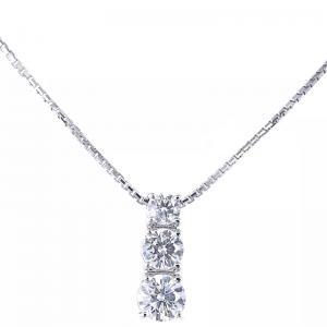 Ciondolo Trilogy a scalare in oro e diamantect. 0.58  - gallery