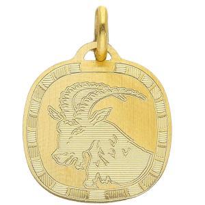 Ciondolo Zodiaco in oro giallo - SEGNO CAPRICORNO  - gallery