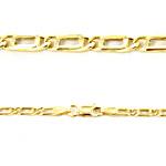 Collana catena da Uomo in oro di 50 cm maglia occhio di pernice - gallery