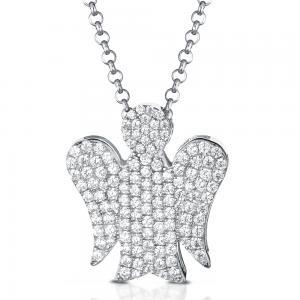 Collana con ciondolo Angelo in argento e Zirconi GIA355  - gallery