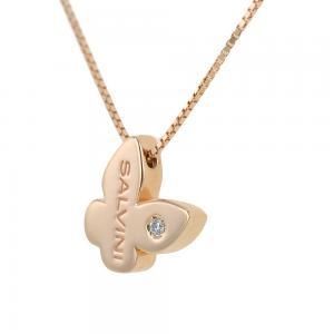 collana con ciondolo farfalla in oro rosa i Segni Salvini gioielli  - gallery