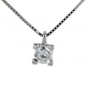 Collana con ciondolo punto luce grande Diamante 0.28 ct - gallery