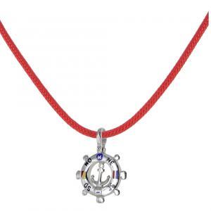 Collana con ciondolo Timone in argento e smalti  - gallery
