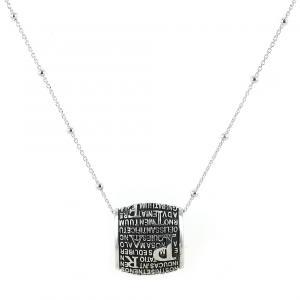 Collana con pendente Pater Noster in argento Padre Nostro Agios - gallery