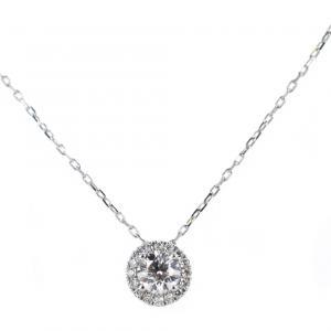 Collana con Punto Luce diamante ct. 0.31 F VS e contorno di diamanti Gioielli Valenza - gallery