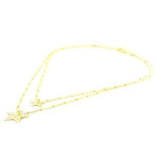Collana con stelle doppio girocollo in argento collezione Shiny - gallery