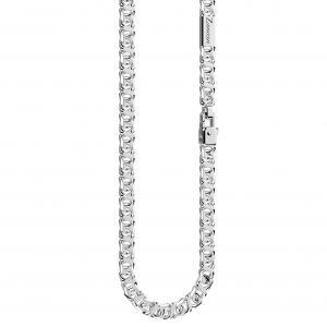 Collana in argento da uomo maglia intrecciata Cosmopolitan EXC566 - gallery