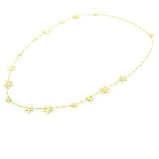 Collana lunga con stelle in argento dorato collezione Shiny - gallery
