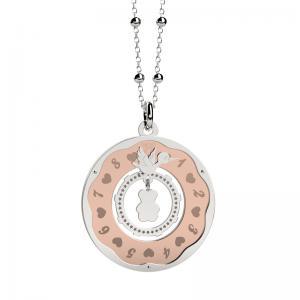 Collana Nanan Orologio della Vita per mamma in attesa con ciondolo con cicogna - gallery