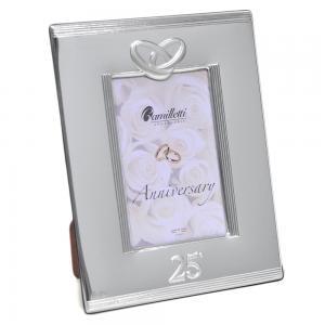 Cornice per Anniversario 25 anni di matrimonio in argento 15 x 20 cm - gallery