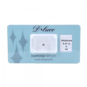 Diamante in blister Dluce carati 0.07 G VS con certificato - gallery