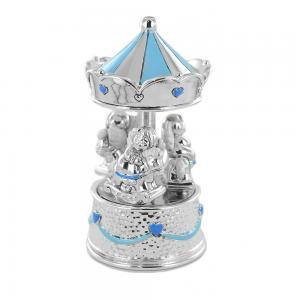Giostrina musicale in argento da bambino con carillon - gallery