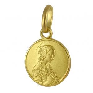 Medaglia in oro giallo Madonna del Lippi 10 mm - gallery