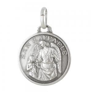 Medaglia san Raffale in argento 16 mm - gallery