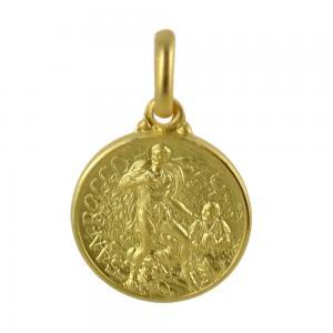 Medaglia San Rocco in oro giallo 14 mm - gallery