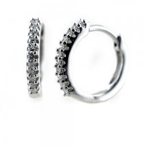 Orecchini a cerchio piccoli con diamanti Gioielli Raaja - gallery