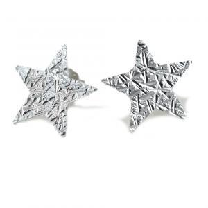 Orecchini a stella in argento a bottoncino collezione Shiny - gallery