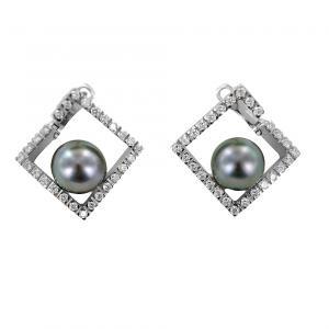 Orecchini con perla Tahiti collezione Mondrian by Damiani  - gallery
