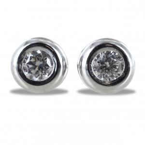 Orecchini Punto Luce Cipollina grande con diamanti ct. 0.16 G VS - gallery