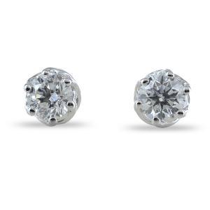 orecchini punto luce Medio con diamanti 0.28 ct Salvini gioielli collezione Lavinia - gallery
