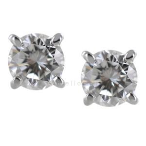 Orecchini Punto Luce in oro e diamanti 0.60 F VS - gallery