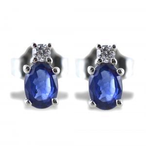 Orecchini Zaffiro e Diamante piccolo collezione Kesar Gioielli Raaja - gallery