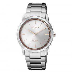 OROLOGIO CITIZEN ECO DRIVE DONNA SILVER LADY FE7024-84A - gallery