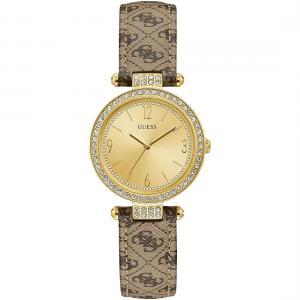 Orologio Guess da Donna dorato logo sul cinturino W1230L2 - gallery