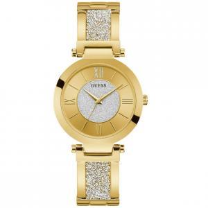 Orologio Guess da Donna oro giallo con Swarovski e glitter W1288L3 - gallery
