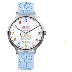 Orologio Nanan da bambini in silicone azzurro con orsetto NOR0001 - gallery