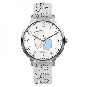 Orologio Nanan da bambini in silicone bianco con orsetto NOR0003 - gallery