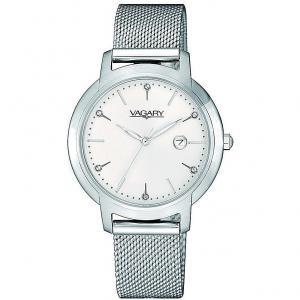 Orologio Vagary da donna bianco con cristalli al quarzo IU1-913-11 - gallery