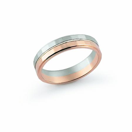 Fede Nuziale Orsini oro 9KT bianco e rosa FE381SD