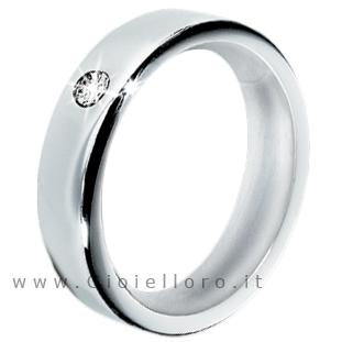 Anello Morellato Cult in acciaio con Diamante S8515 misura 12