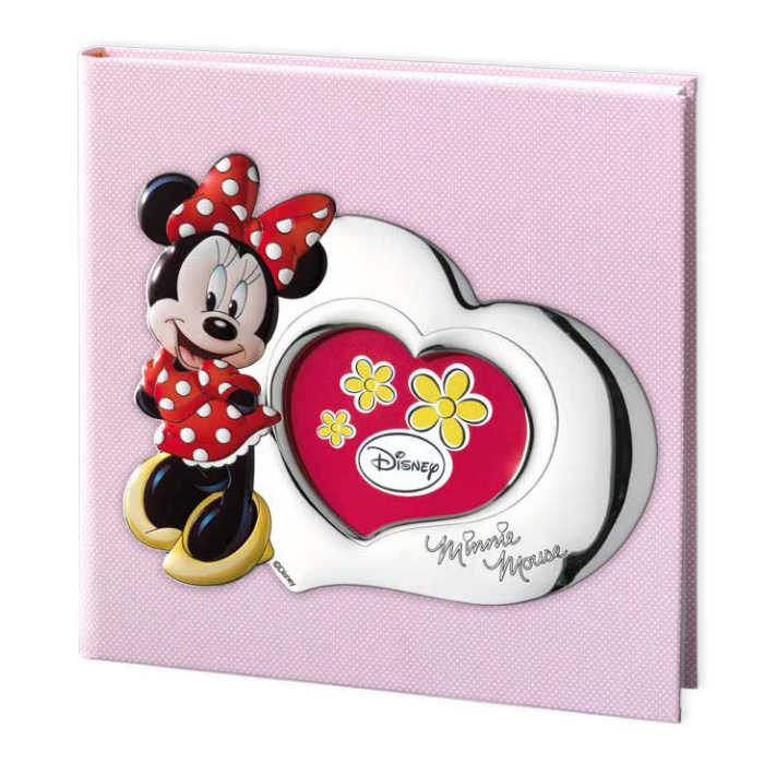 ALBUM PORTAFOTO CON INSERTO IN ARGENTO MINNIE MOUSE 30X30 CM